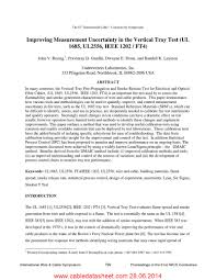 Improving Measurement Uncertainty In The Vertical Tray Test UL 1685 UL2556 IEEE 1202 FT4 Cabledatasheet