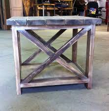 Rustic X End Table Ana White Plans In A Mini Skirt