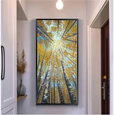 Vertical Wall Art Custom Large Modern Painting Decorative Pictures Abstract Inspiration