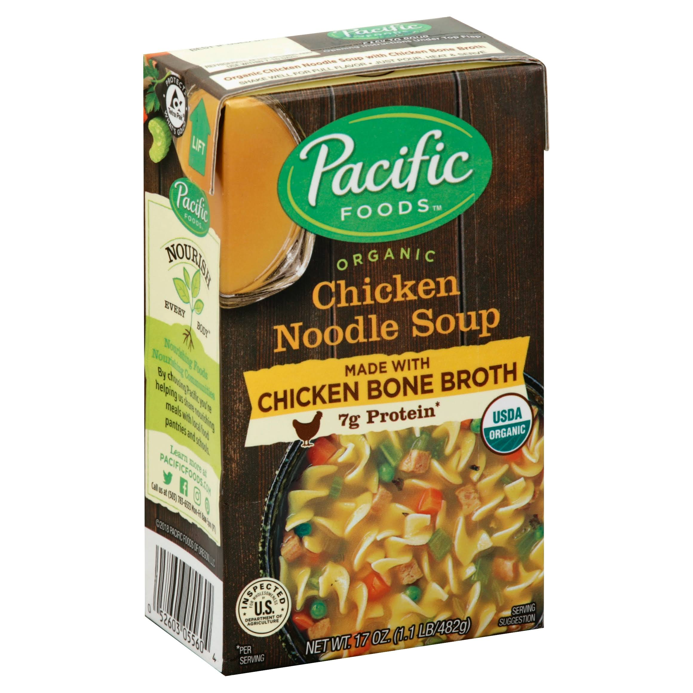 Pacific Chicken Noodle Soup, Organic - 17 oz