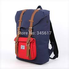 Red And Navy Color Bag Fashion Backpacks Herschel Backpack Little America Mans Travel Bags Ladys