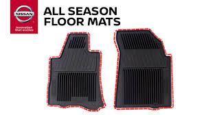 Nissan Armada Floor Mats Rubber by All Season Floor Mats Genuine Nissan Accessories Youtube