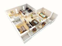 20 Designs Ideas For Apartment Or One Storey Three Bedroom Floor Plans