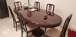 Barely Used Dining Table With 6 Chairs Broummana