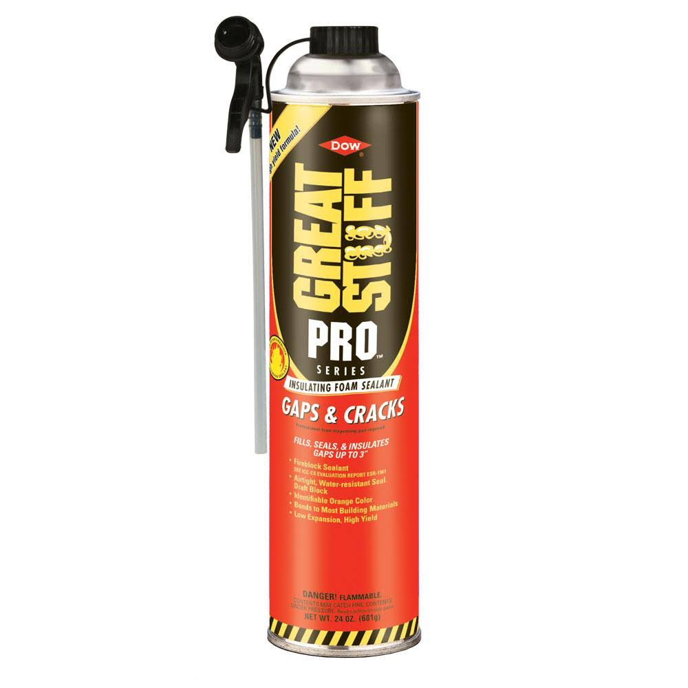 Great Stuff Pro Gaps and Cracks Insulating Foam Sealant - 24oz