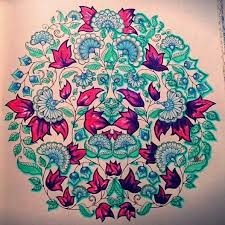 Johanna Bashford Purple And Mint Colouring With Derwent Inktense Pantone Pencil Sabine Secret Garden