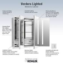 Kohler Verdera Recessed Medicine Cabinet by Shop Kohler Verdera 40 In X 30 In Rectangle Recessed Aluminum