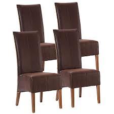 voglrieder rattanstühle set antonio 4 stück polsterstühle esszimmer stühle braun grau oder schwarz cognac möbel und schönes