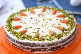 carrot cake mit frischkäse frosting