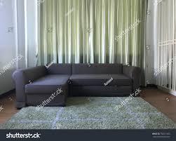 100 Www.homedecoration Gray Sofa Living Room Green Fabric Stock Photo Edit Now