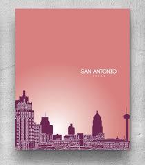 100 San Antonio Loft Urban Art Poster Cityscape Poster Any Etsy