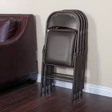 Meco Samsonite Folding Chairs by 5 Piece Table And Chair Set In Deep Brown Walmart Com