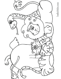 Zoo Animals Coloring Pages To Print Book Pdf Preschool Animal Full Size