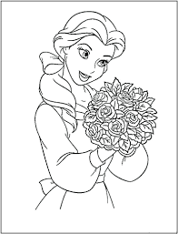 Disney Princess Coloring Book Printable Colouring Pdf Sheets Pages Free