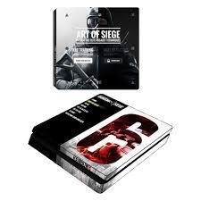 siege sony rainbow six siege ps4 slim vinyl skin decal sticker cover for