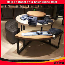 Retail Clothes Display Table Round