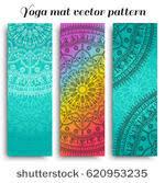 Set Of Yoga Mat Vector Pattern