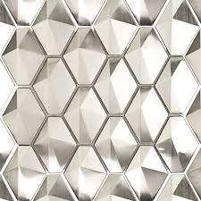 Stainless Steel Metal Tiles for Bathroom & Kitchen Backsplash