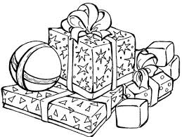 Christmas Gift Box Coloring Page