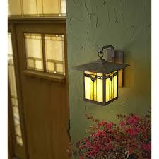 Allen Roth Outdoor Floor Lamp by Shop Allen Roth Vistora 11 75 In H Bronze Outdoor Wall Light At