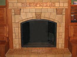 arts and crafts tile fireplace decorative ceramic tile fireplace