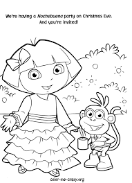Dora The Explorer Coloring Pages To Print