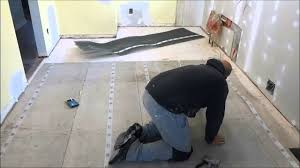 how to install a mesh subfloor tiling preparation youtube