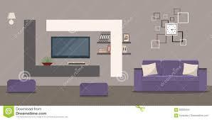 wohnzimmer in den beige farben mit einem sofa und einem