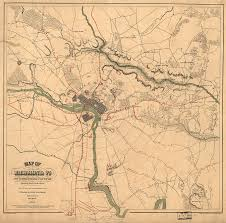 Curtain Call Richmond Va by Vintage Richmond Va Rebel Defense Map 1864 Drawing By