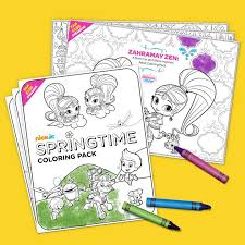 Fan Club Exclusive Springtime Coloring Pack
