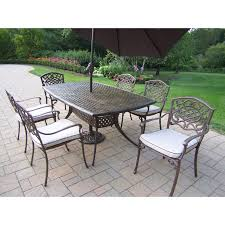7 Piece Patio Dining Set With Umbrella by 31 Wonderful Patio Dining Sets With Umbrella Pixelmari Com