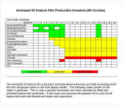 Documentary Production Schedule Template 13 Sle Shooting Schedules Templates
