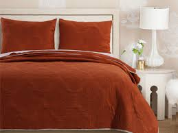 Greenland Home Bedding by Cameo Rust Quilt Set Gl 1612gmst Solid Color Quilt Sets Bedding