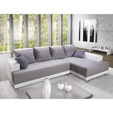 fabrication d un canapé toscana canapé d angle droit convertible 5 places tissu gris et