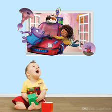 Wall Mural Decals Nursery by Home 3d Cartoon Baby Nursery Wall Decal Stickers Murals Aliens