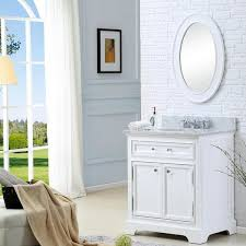 30 Inch Bathroom Vanity White by Water Creation Derby 30 Inch Solid White Single Sink Bathroom
