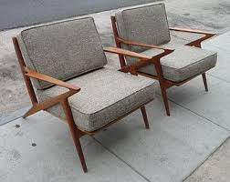 Danish Mid Century Modern Selig Z Style Teak Lounge Chair Chairs