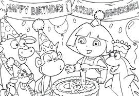 Dora Coloring Sheets Printable Free Explorer Thanksgiving Pages Book Pdf Online