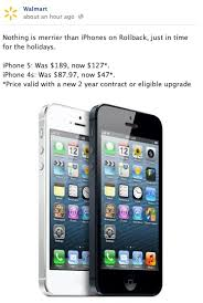 Walmart fering iPhone 5 for $127 Third Generation iPad for $399