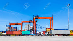 Landscape Of Truck, Containers And Crane At Trade Port Stock Photo ... Shipping Containers 8ft Tunnel Container With Personnel Doors And Shipping Container Cafe Pop Up Labuan Malaysia Aug 22017 Containers Unloading Any Photos Of Macks Hauling Shipping Containers Antique 1000 Great Photos Pexels Free Stock Gate To What Happens When A Truck Picks Youtube Twentyfoot Equivalent Unit Wikipedia For Sale Sydney Containefirst Buy In Houston Texas Cgintainersalescom Delivery North South Carolina Conex Boxes Ccc