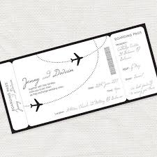 Boarding Pass Wedding Invitations Template Invitation Free