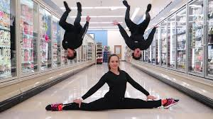 Sofa King We Todd Did Prank by Gymnastics In Grocery Store Youtube