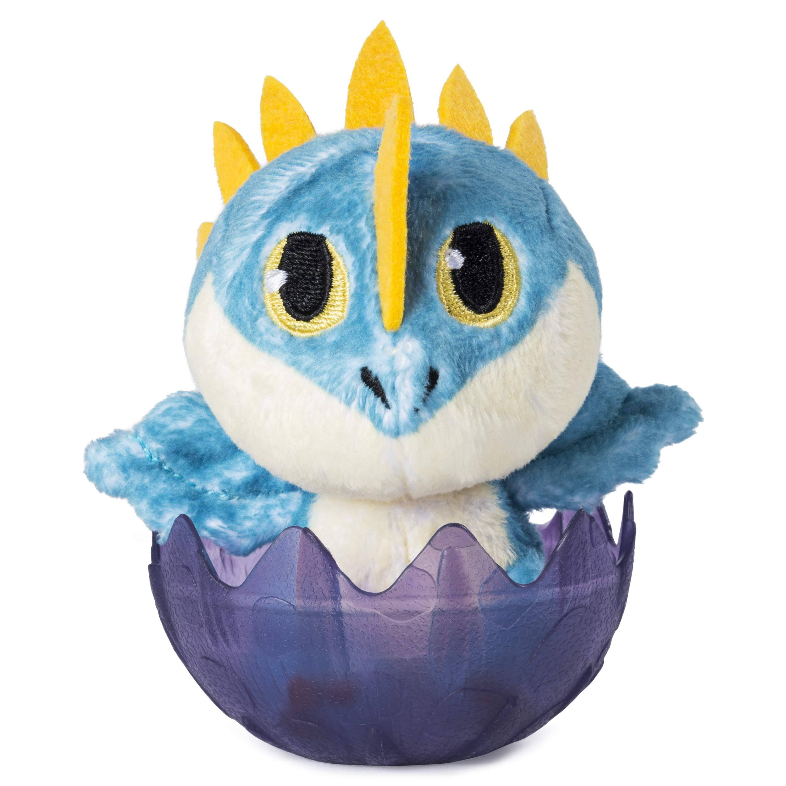 Dreamworks Dragons, Baby Stormfly 3-Inch Plush, Cute Collectible Plush Dragon in Egg, for Kids Aged 4 and Up