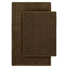 Modern Bathroom Rugs And Towels by Bathroom Cheap Brown Stripes Rectangle Bathroom Rug Set Enhance