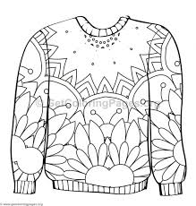 Ugly Sweater Coloring Pages 2