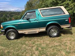 1996 Ford Bronco TAN 1996 FORD BRONCO EDDIE BAUER NEW LEATHER