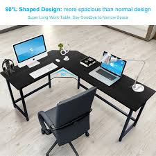 L Shaped Computer Desk Amazon by Amazon Com Tribesigns Modern L Shaped Desk Corner Computer Desk