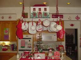 Red And White Vintage Kitchen Decor