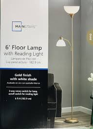Mainstays Floor Lamp Dark Wood Finish by Flooring Mainstays Floor Lamp Torchiere Replacement Shades
