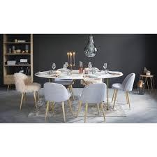 esstisch für 4 6 personen aus weißem marmor und goldfarbenem eisen l200 maisons du monde